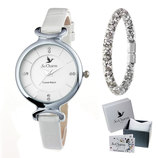 Vente Articles : Coffret montre 8 cristaux et son bracelet  - So'Charm
