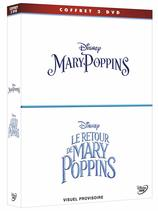 Vente DVD : Coffret Mary Poppins + Le retour de Mary Poppins (3 DVD)