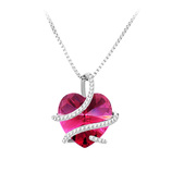 Vente Articles : Collier Coeur fushia  - So'Charm