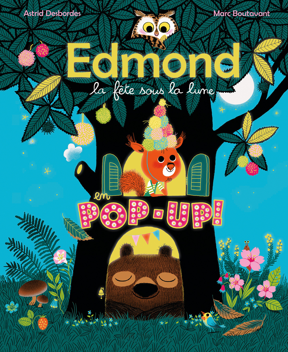 Edmond la fête sous la Lune en pop-up