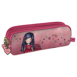 Vente Articles : TROUSSE A ACCESSOIRES 3 ZIP - Love Grows  - Gorjuss