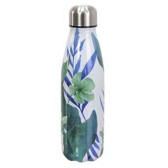 Vente Articles : Bouteille inox NOMADE : green flower (500 ml)